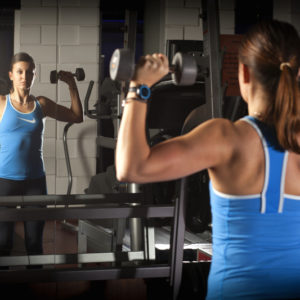 Kobieta na treningu